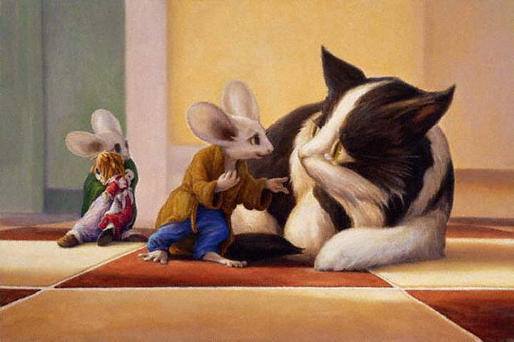 Mouse and Cat Paintings