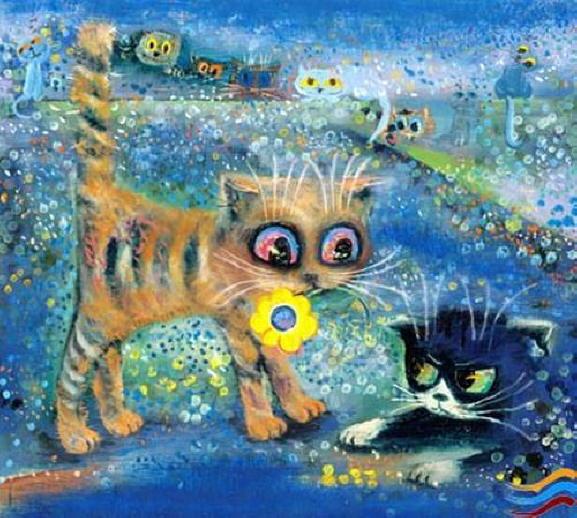 Painting of kittens. Boris Kasyanov