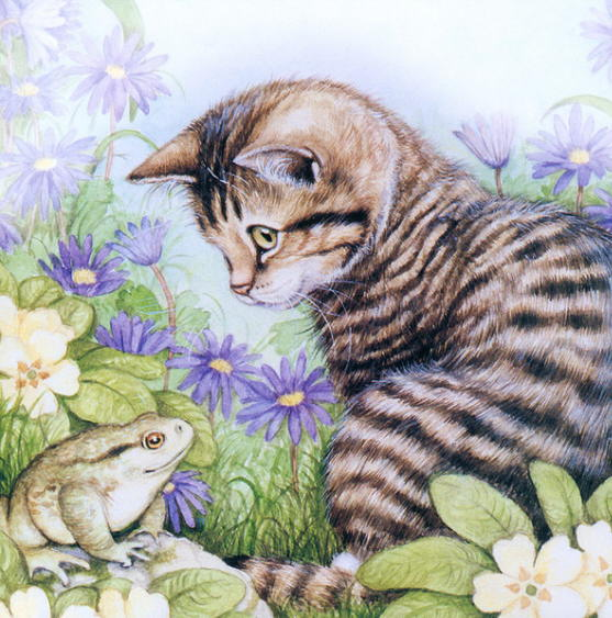 Painting of kittens. Debbie Cook