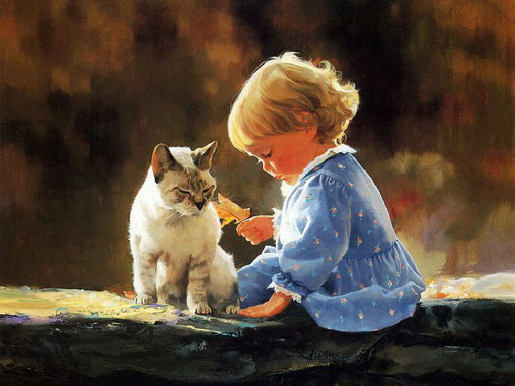 Painting of kittens. Donald Zolan