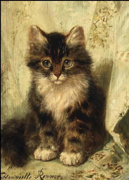 Painting of kittens. Henriette Ronner-Knip