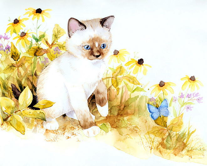 Painting of kittens. Jane Maday