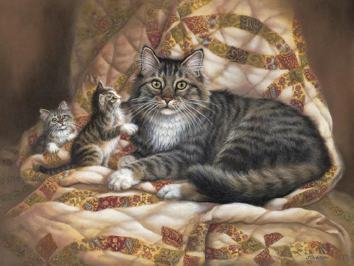 Painting of kittens. Judy Gibson