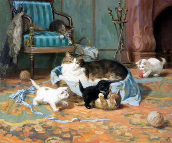 Painting of kittens. Sergej Novosadzhuk