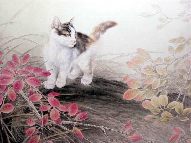 Картина котят.  Xing Chengai