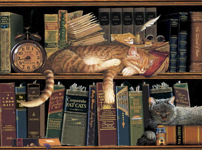 Painting of orange cats. Charles Wysocki