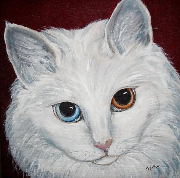 Painting Black Cat Portraits In Acrylic