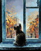 Cat in the Window - Alexander Gunin