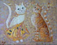 White Cat, Orange Cat - Elena Melnikova