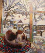 Snowy Winter in the Village - Olga Trushnikova