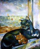 Blues of green cat - Lyudmila Shahardina