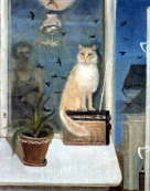 Cat, Birds and evening - Sergej Veselov