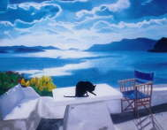 Susan Lamy - A Cat in Santorini