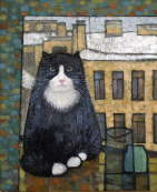 Cat in the Window - Natalya Trubina